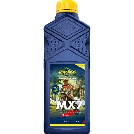 Putoline MX7 Off Road MX Motocross Fully Synthetic 2 Stroke Oil Pre/Post Mix 1L